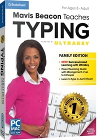 A popular typing tutor, powered by Ultrakey technology. We briefly review Mavis Beacon Teaches Typing Family, Personal and Kidz and list features, pros & cons.