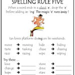 Spelling Rules Tips - Rule 5