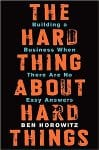 image of The Hard thing about Hard things - best business books
